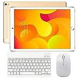Tablette Tactile 10 Pouces 4G WiFi Doule SIM, Tablettes Android 7.0 avec Clavier 3Go de RAM 32Go ROM, 8000mAH Quad Core Écran HD Double Caméra, Bluetooth, GPS, OTG - Or