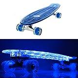 SSITG 27 inch LED Skateboard Penny mini cruiser Leuchtrollen Board style Longboard