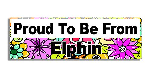 proud-to-be-from-elphin-car-sticker-sign-voiture-autocollant-decal-bumper-sign-5-colours-flowers