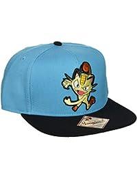 Casquette de Baseball Pokémon - Miaouss - Bleu & Noire - Ajustable