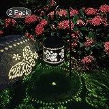 2 Pacco Lanterne Luci Solari Giardino Decorazioni Giardino per Esterno Illuminazione Giardino per Portico Percorso (Farfalla)