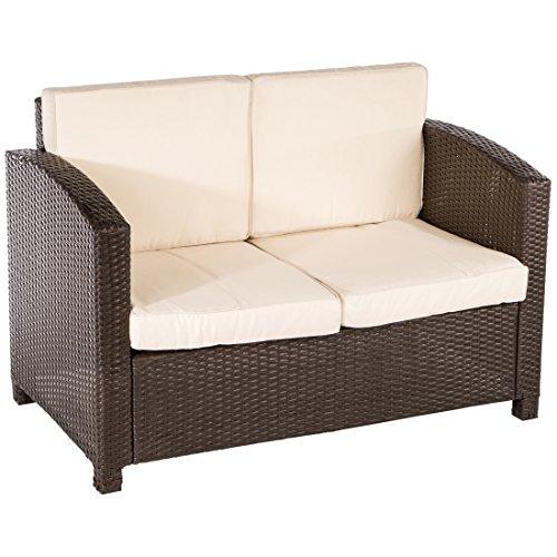 Ultranatura Poly-Rattan Lounge Sitzgruppe, Palma-Serie 4-teilig / Tisch + Couch + 2 Sessel inklusiv Auflagen - 2