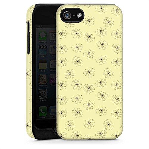 Apple iPhone 6 Housse Étui Silicone Coque Protection Fleurs Fleurs Vintage Rétro Collection Cas Tough brillant