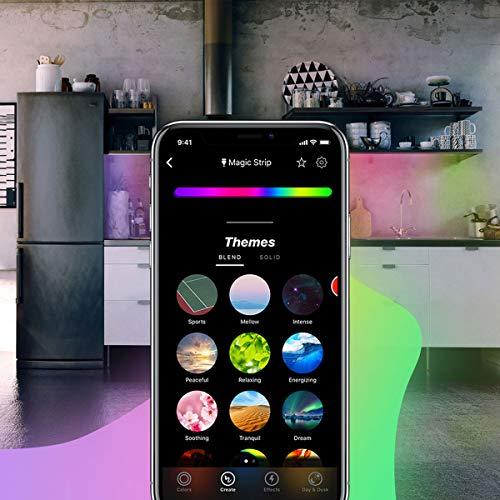 LIFX Z Erweiterung für LED-Lichtbandeinsatz Mehrfarbig, dimmbar, kein Hub erforderlich, funktioniert mit Amazon Alexa, Apple HomeKit und Google Assistant - 8