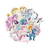 #8: TOYMYTOY Unicorn Stickers Decals - 33 Pcs, Unicorn Party Favors, Laptop, Luggage Decor