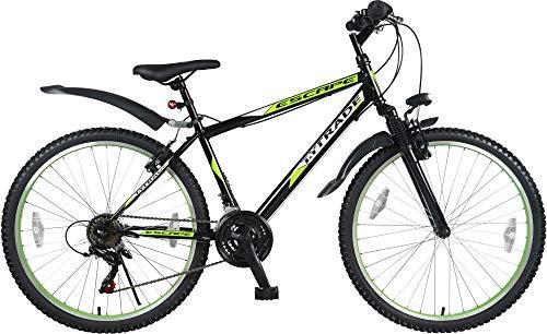 Unbekannt 26 Zoll Kinder Jugend Mädchen Herren Jungen MTB Fahrrad Mountainbike FEDERGABEL JUGENDFAHRRAD KINDERFAHRRAD Bike 21 Gang Escape GRÜN Schwarz TYT19-024 -