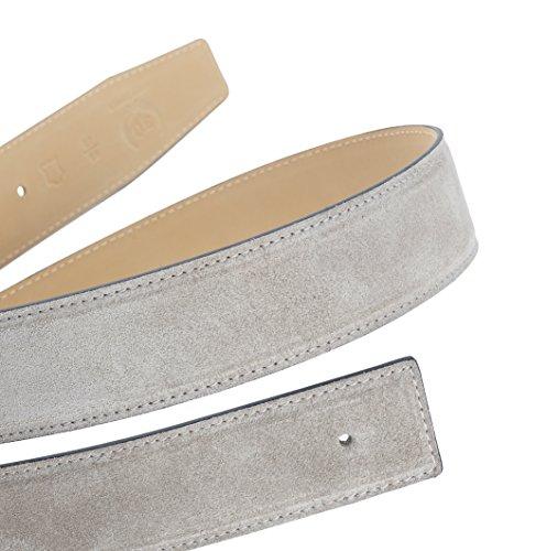Exklusiver Premium Wildledergürtel in Graubeige in der Breite 40 mm 95 cm