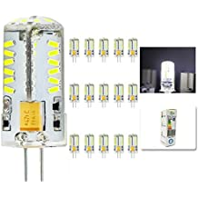 mengjay® 15x CREE caliente venta 57LEDs SMD3014Bombilla Lámpara G4maíz blanco frío AC DC12V 4W SMD 3014LED luz bombilla lámparas 360grados ángulo de haz