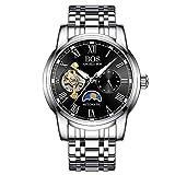 North King Quarz Uhren Datumsanzeige Drei Zifferblättern Automatische Stahlband Mode Herren Armbanduhr Armbanduhren für Erwachsene Geburtstagsgeschenk