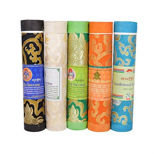 Essenzen, Räucherstäbchen (TATTOPANI Räucherstäbchen bhutanesischer Duft tibetische Meditation Joss Räucherstäbchen Mix1)
