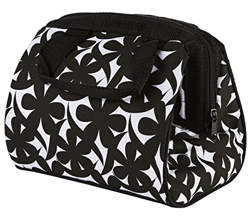 fit-fresh-charlotte-insulated-lunch-bag-with-ice-pack-black-and-white