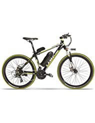 BNMZX Bicicleta eléctrica, Bicicleta de Ciudad Plegable de 26 Pulgadas 48V10AH, Bicicleta eléctrica de