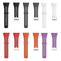 Zachte Siliconen Horlogebanden voor GPS Smart Pols Sport Horloge Polar M400 M430, Snelle Release Straps | 6 Kleuren Optie | 2.1 cmx24.5 cm Horlogebandjes Zwart