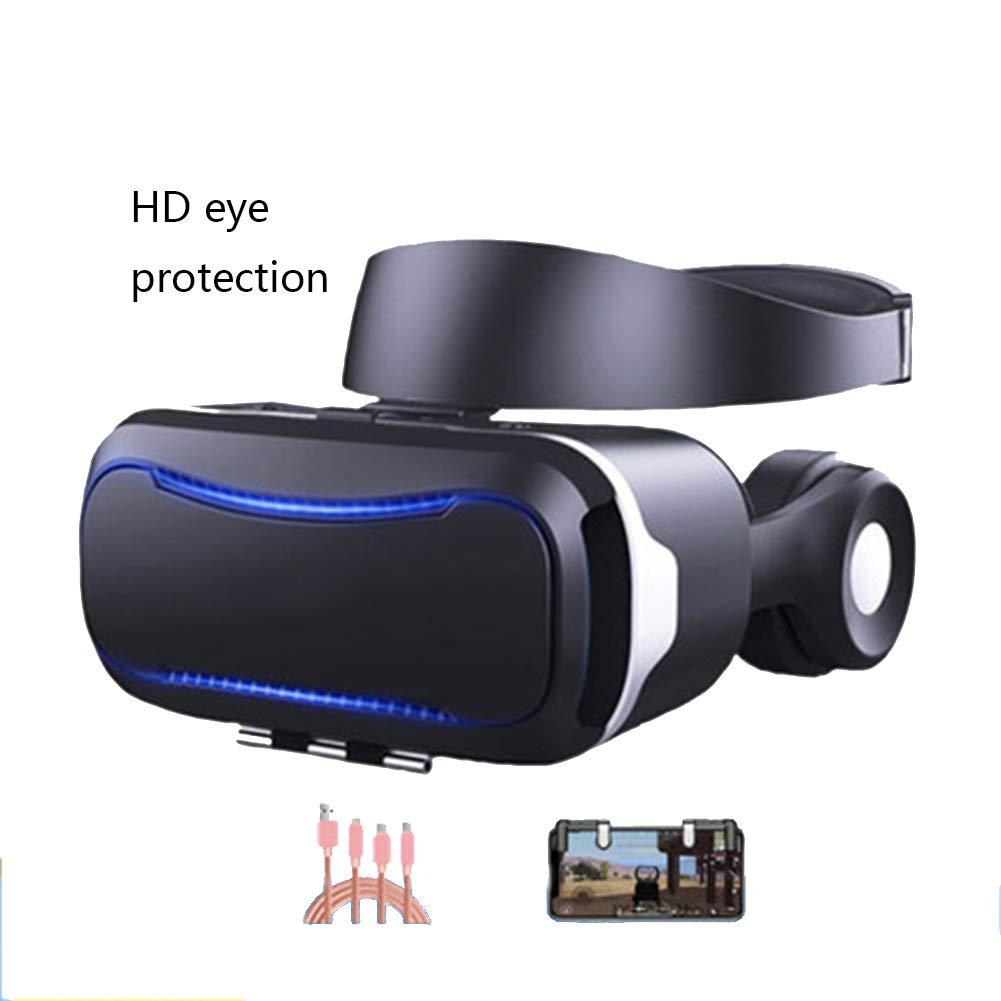 AYI Lunettes VR 3D, Noir Monture De Tête Intégration Audiovisuelle Casque De Réalité Virtuelle VR, Convient À Iphone/Android Téléphone Portable