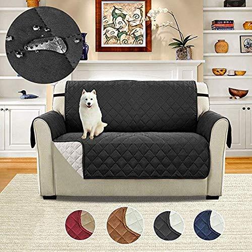 Gorkuor Pet Sofa Kissenbezug Pet Couch-Bezüge Couch-Bezüge für Hunde Schonbezug für Haustiere rutschfeste Schonbezug Pet Sofa Schutzbezug Pet Sofa-Schwarz -