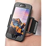 iPhone 8 Armband, SUPCASE Sport Hülle Sportarmband mit Flexibel Combo für Joggen Sport (Kompatibel mit Apple iPhone 7 / iPhone 8) (Schwarz)