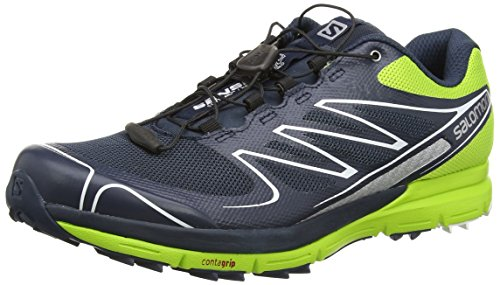 Salomon Sense Pro, Sneakers basses homme multicolore (Deep Blue/Granny Green/White)