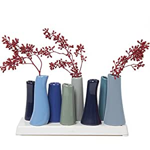 Ciboulette pooley2-8 tubes Mini Vases - Azure