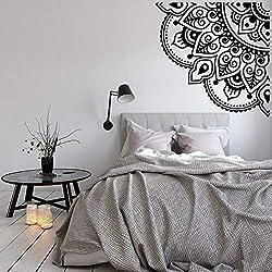 Mandala Vinilos Decorativos de Esquina de Vinilo para el salón Decoración de la Sala Hola Flor Pegatinas de Pared Sofá de Fondo de Arte Mural 42 * 42 cm
