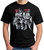 35mm - Camiseta Hombre - The Walking Dead - Infected - Series TV Zombies, Negra, L