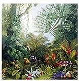 Decorazione Murale Carta Da Parati Murale 3D Carta Da Parati Pianta Della Foresta Pluviale Tropicale 250 Cm * 175 Cm