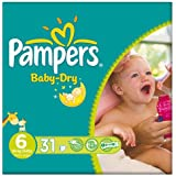 Pampers Baby Dry taille 6 (16 + kg) Paquet Extra Large 3x31 essentielles par paquet