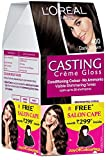 #5: L'Oreal Paris Casting Creme Gloss Hair Color, 4 Dark Brown,  159.5g with Free Salon Cape (Worth Rupees 299)