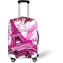 gopu mchy Color Rosa Torre Eiffel 3D Impresa Cover gepäckabdeckung maletín Protectora para Equipaje de Viaje