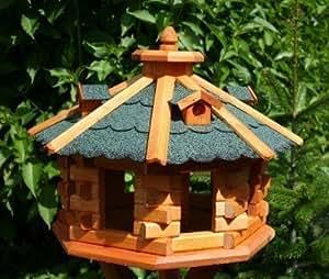 Super-grande Maison d'oiseau Octogonale, Maisons d'oiseaux vert avec Lucarnes Traité Type 6