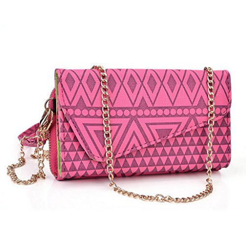 Kroo Pochette/étui style tribal urbain pour Allview Impera M/A6 Quad Multicolore - Rose Multicolore - Rose