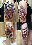 Phoenix, Koi Fish : DaLin 4 Sheets Temporary Tattoos, Phoenix, Koi Fish