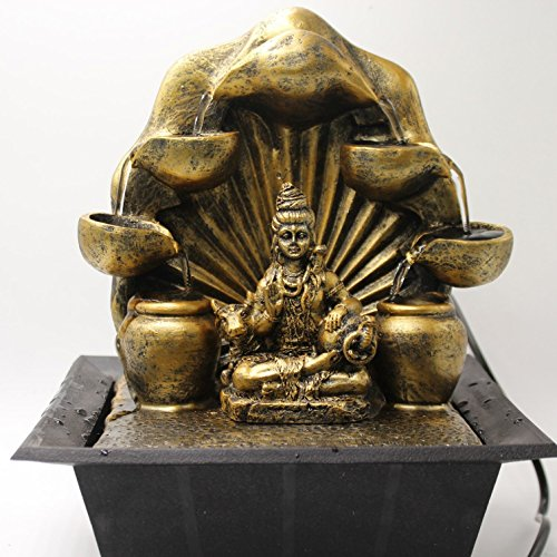 Shiva Wasserfall Brunnen mit LED Lampe Indoor Home Decor Artikel -