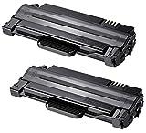 Prestige Cartridge MLT-D1052L Kit 2 Toner compatibili per Samsung ML-1910, ML-1915, ML-2525, ML-2525W, ML-2580N, SCX-4600, SCX-4600FN, SCX-4623F, SCX-4623FN, SCX-4623FW, SFP-650P, ML-1911, nero