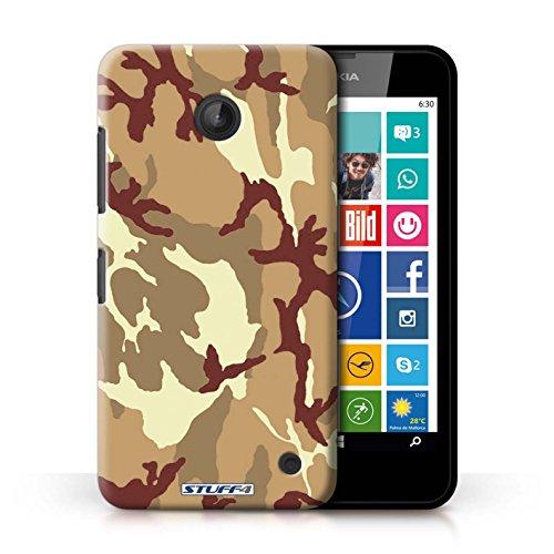 Kobalt® Imprimé Etui / Coque pour Nokia Lumia 635 / Blanc 2 conception / Série Armée/Camouflage Marron 4