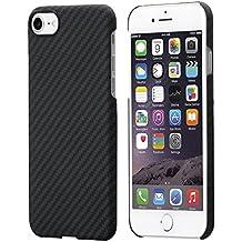 iPhone 7 Cover Con Schermo Protettivo, Nero / Grigio (Spigato) , 4.7 Pollici Custodia Ultra Sottile 0.65 mm da PITAKA Aramid Fibre