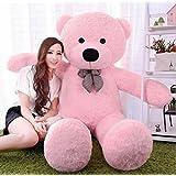 ToyHub Soft 3 Feet Teddy Bear With Neck Bow (91 Cm,Pink)