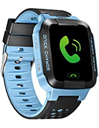 SNHWARE Reloj Inteligente Para Niños Con Pantalla Táctil Posicionamiento Vida Impermeable Seguimiento Y Alarma,Blue