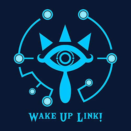 Legend Of Zelda Wake Up Link Women's Hooded Sweatshirt Navy blue