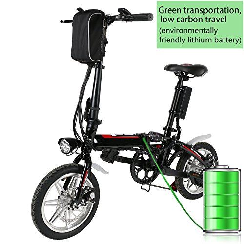 14 Zoll Elektrofahrrad Mountainbike,E-MTB E-Bike,Pedelec, 36V 250W Bafang Motor, 36V 13Ah 468Wh designer Rahmen Akku,Matt schwarz