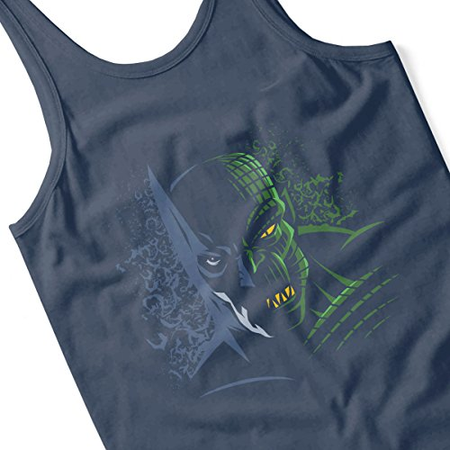 Dark Knight Batman Versus Croc Men's Vest Navy Blue