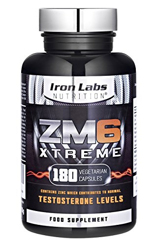 ZM6® Xtreme - 2,100mg | 180 Vegetarian Capsules | 2-3 month supply | Zinc Magnesium Supplement (Officially Licensed ZM6®) | Contains Zinc for Testosterone Levels Test