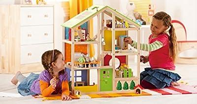 Hape E3401 - Casa de muñecas amueblada por Hape