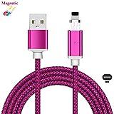 Superior Magnetisches iPhone USB-Kabel ZRL® haltbare Nylon Geflochtene LED Anzeige USB Magnet Kabel Daten Ladekabel für iPhone X,XS, XS Max,8, 8 Plus, 7, 7 Plus, 6s,6s Plus und mehr