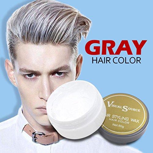 Upxiang Männer Frauen Oma Haar Asche Dye Matte Farbe Haar Wachs Haarfarbe Pomade Temporäre Haare Asche Grau Schlamm (Grau)
