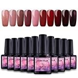 Saint-Acior Nail Art Gel Lack UV Nagellack UV Gelnägel Farben 10pc Gellacken uv Set 8ml Nail Gel Polish,Y1002
