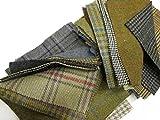 Tweed, Patchwork Flicken, 20 Stück
