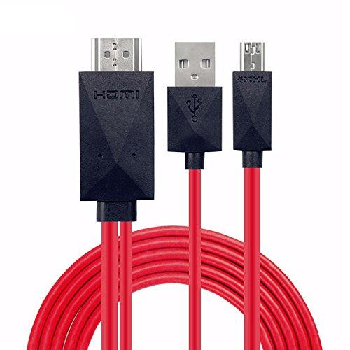 thanly MHL 11Pin Micro-USB zu 1080p HDMI HDTV Kabel Adapter Kordel | Handy zu TV Kabel für Samsung S3S4S5Note23