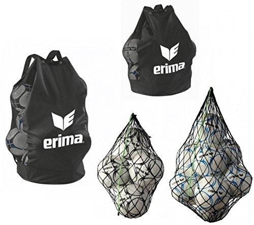Erima Ballnetz Ballsack Balltasche für 5, 10, 12 oder 18 Fussbälle, Balltaschen:5'er Ballnetz