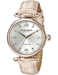 Akribos XXIV Mujer Acero Inoxidable Reloj con correa de color rosa