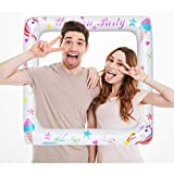 BESTOYARD Marco Inflable Unicornio Marco Photo Booth Atrezzo Soporta...
